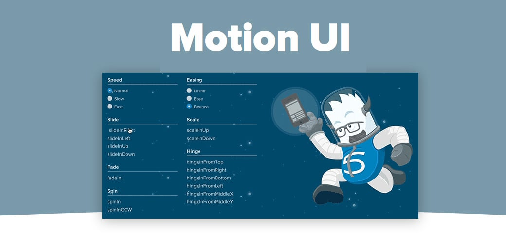 Motion UI web development trends 2018