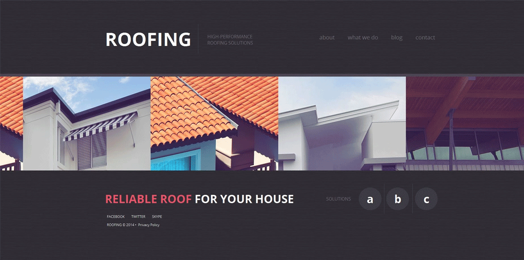 Roofing WebTemplate