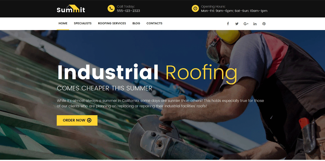Roofing Company Responsive Template