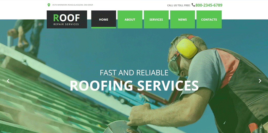 Roofing Company Template