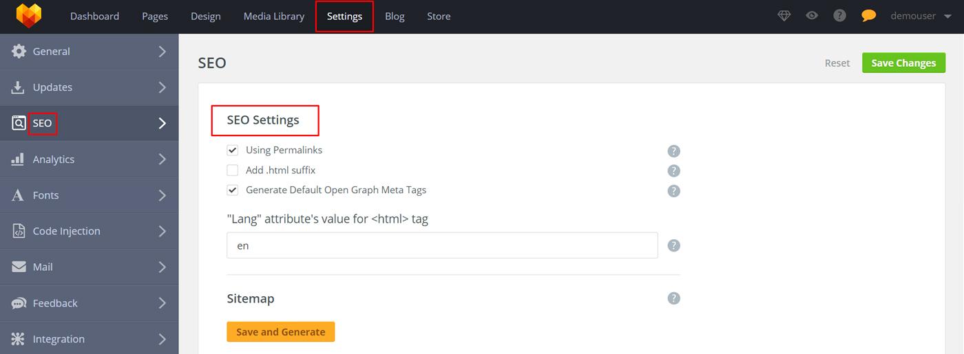 Best Simple Website Builder SEO-Integration