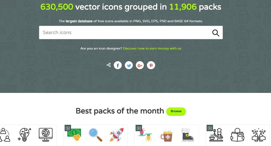 Бесплатные векторные изображения FlatIcon