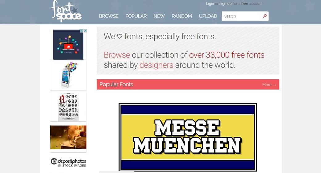 бесплатные векторные изображения FontSpace
