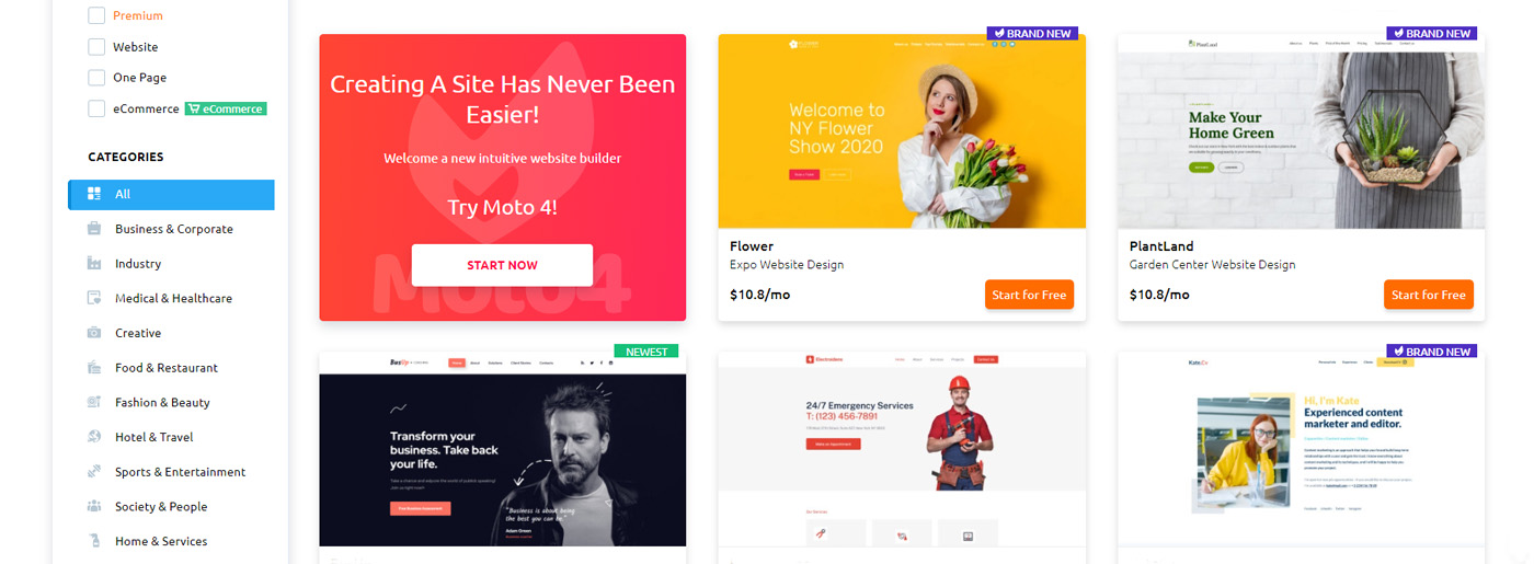 Website Templates for any Purpose