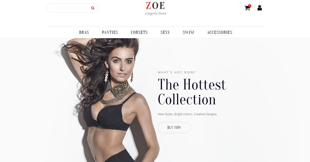 Zoe Fashion Online Store Template