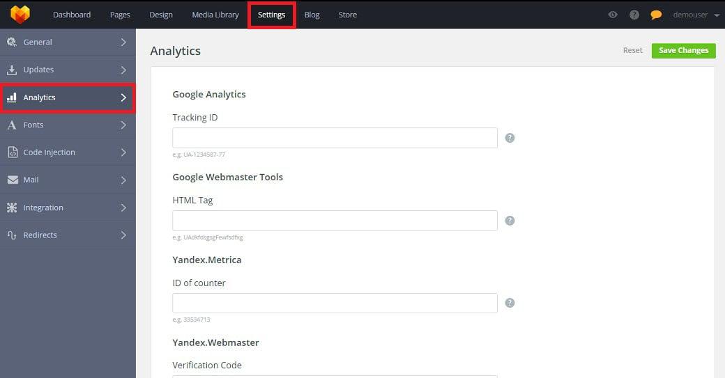 Traffic Analysis simple website builder