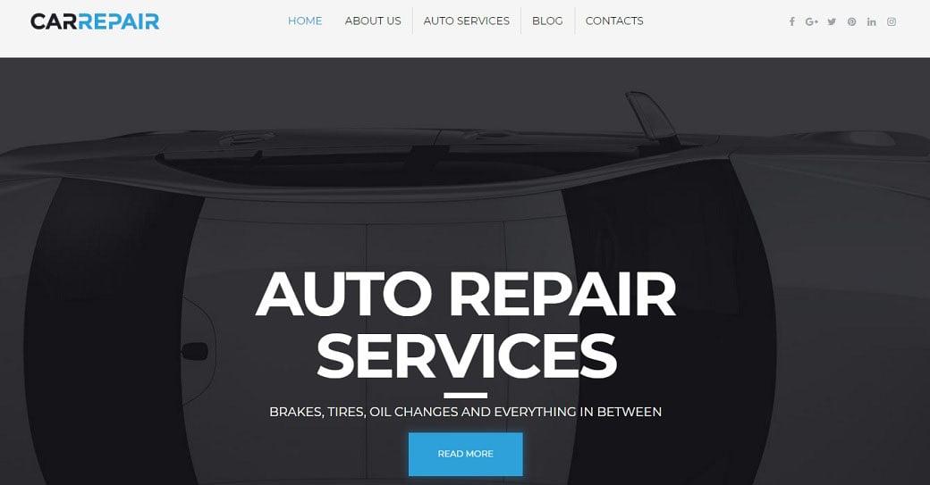 Auto Service Responsive Website Template
