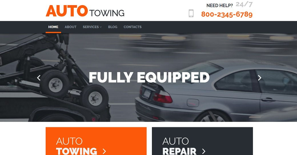 Auto Towing Responsive Website Template