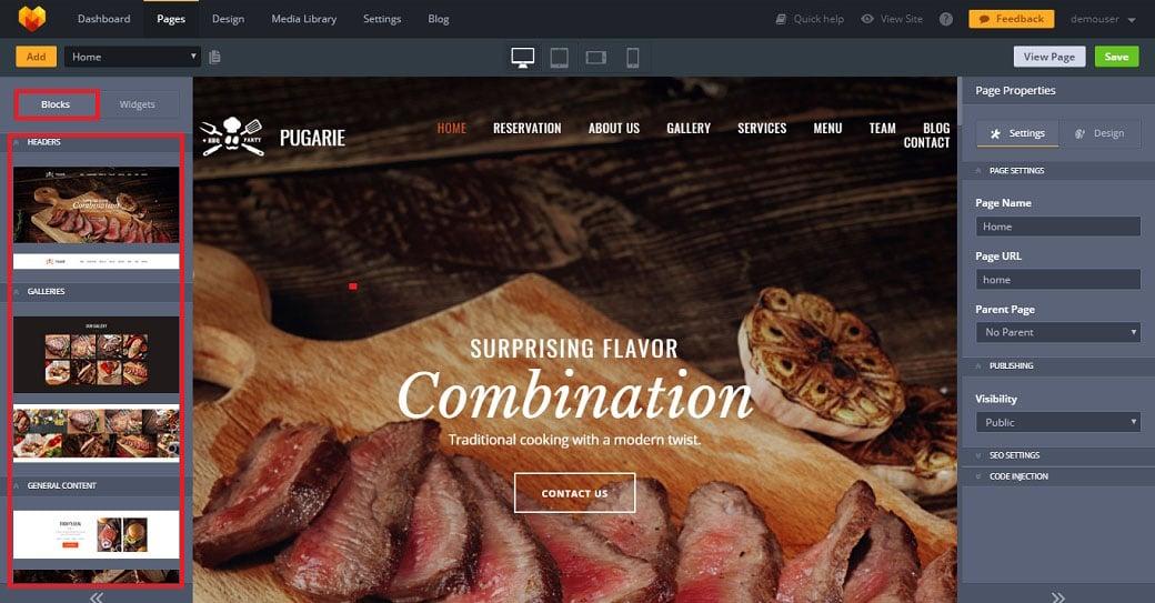 Customization with website builder image