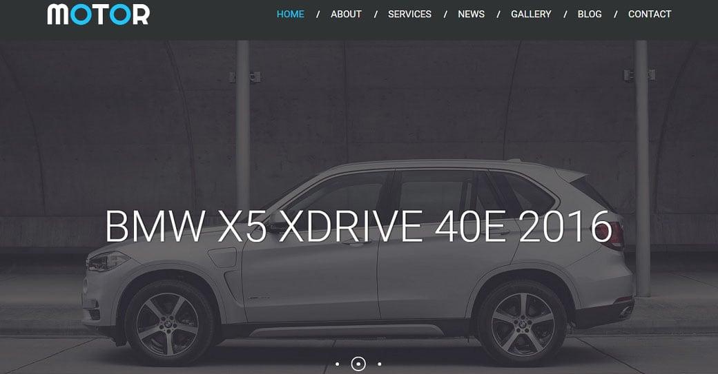 Responsive Website Template for Car Dealers