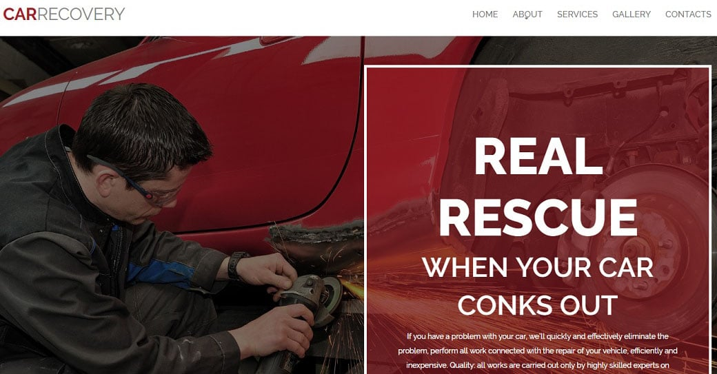 Car Repair Service Website Theme
