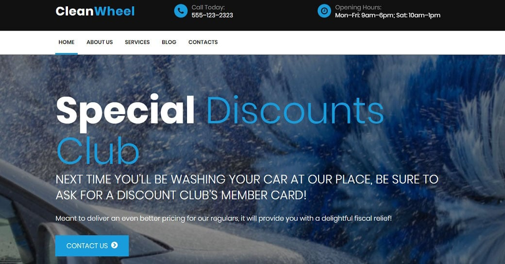 Clean Wheel Responsive Website Template