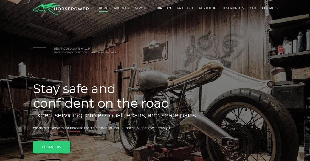 Horsepower Responsive Website Template