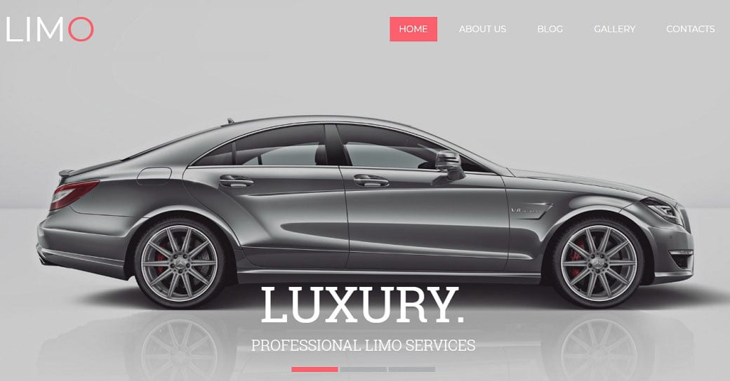 Limousine Services Responsive Website Template