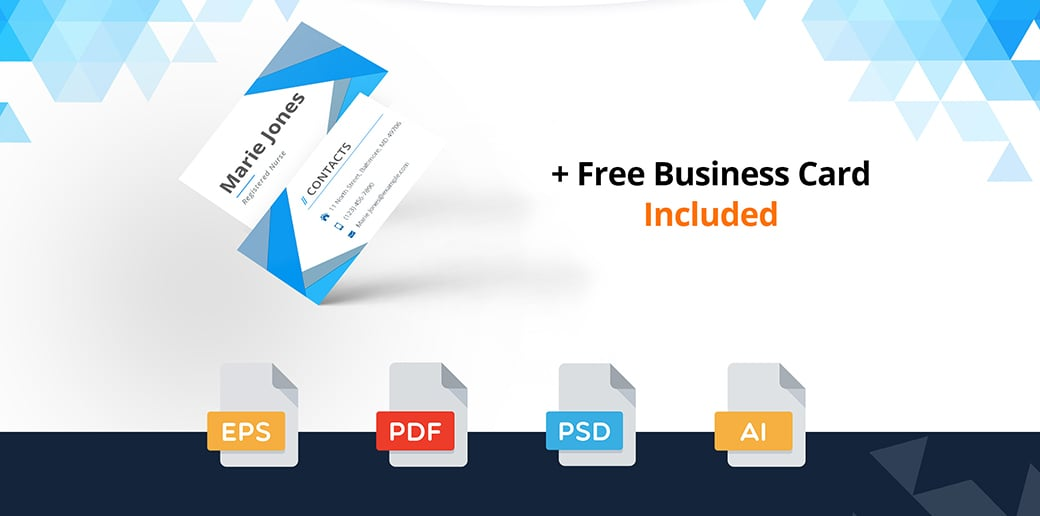 Business Card Psd Template For Doctors And Nurses