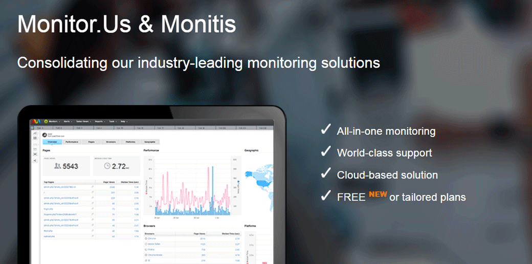 Monitis website uptime monitoring