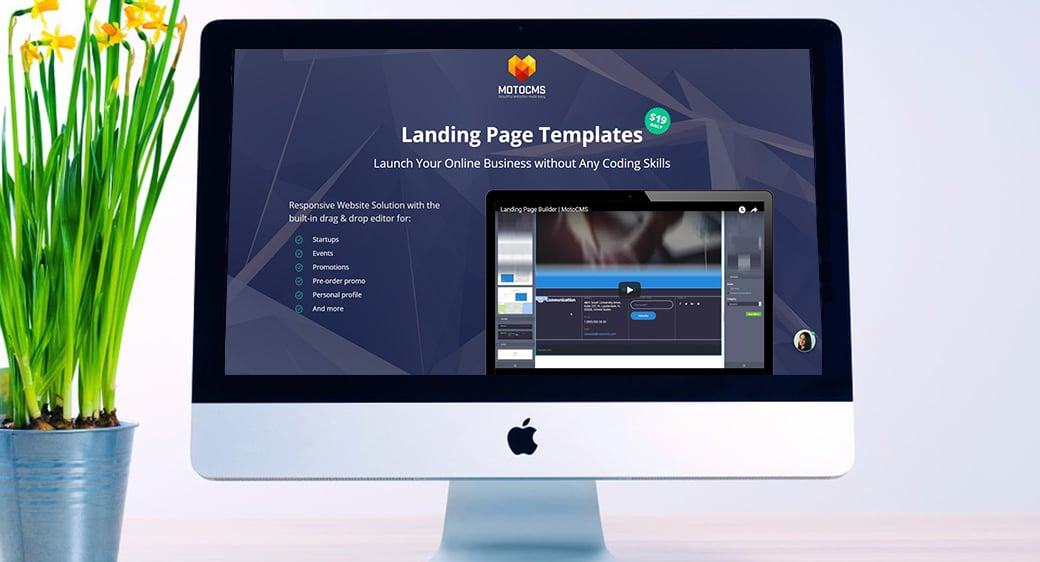 Drag and Drop Landing Page Builder main image