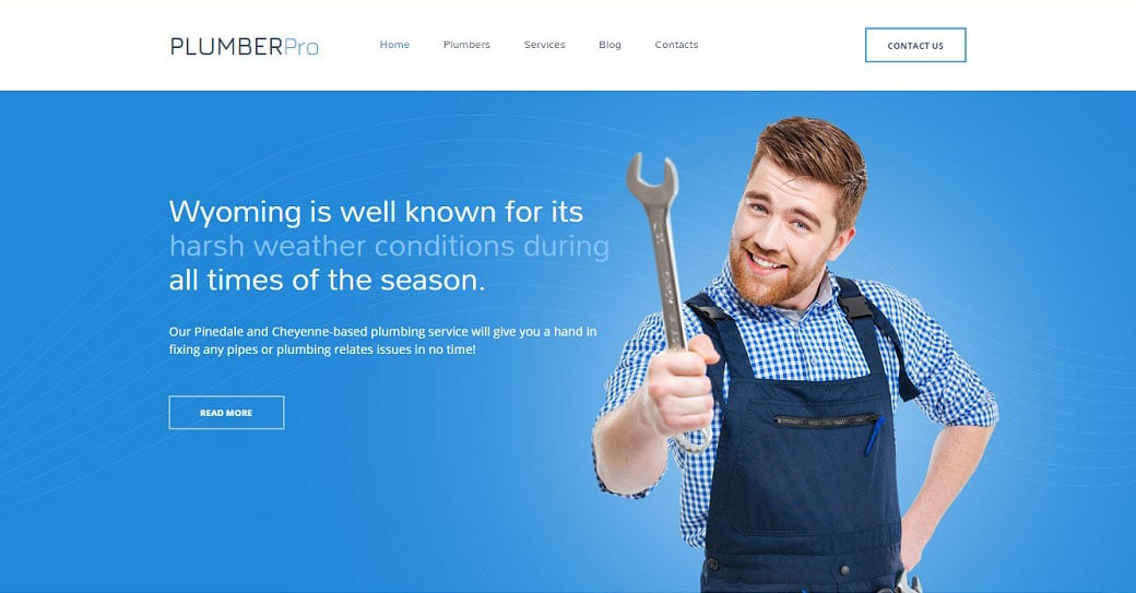 Plumber Pro Responsive Website Template