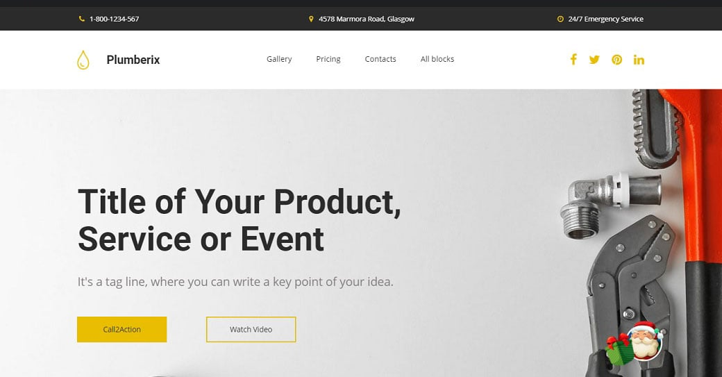 Plumberix Landing Page Template