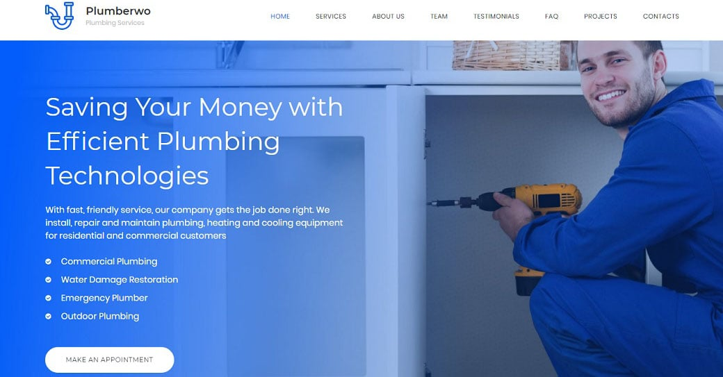Plumberwo Responsive Website Template