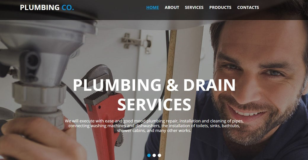 Plumbing Services Website Design