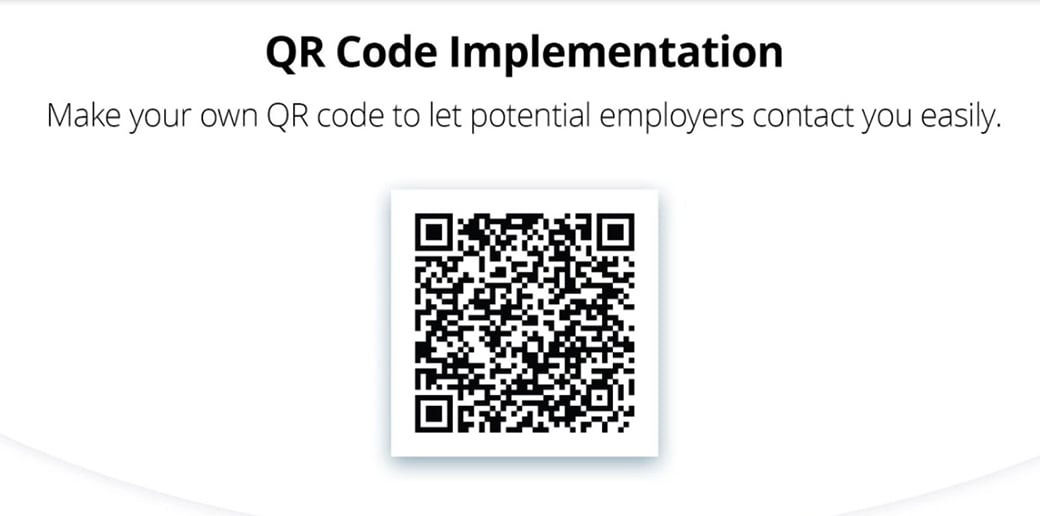 QR code for free business card psd