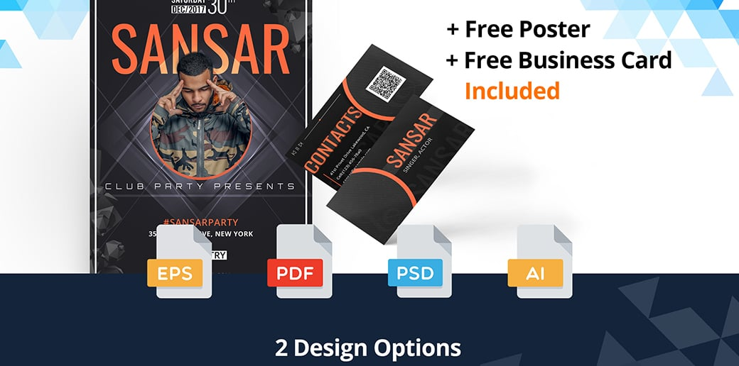 singer free business card psd