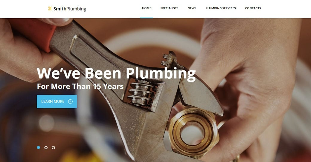 Smith Plumbing Website Template