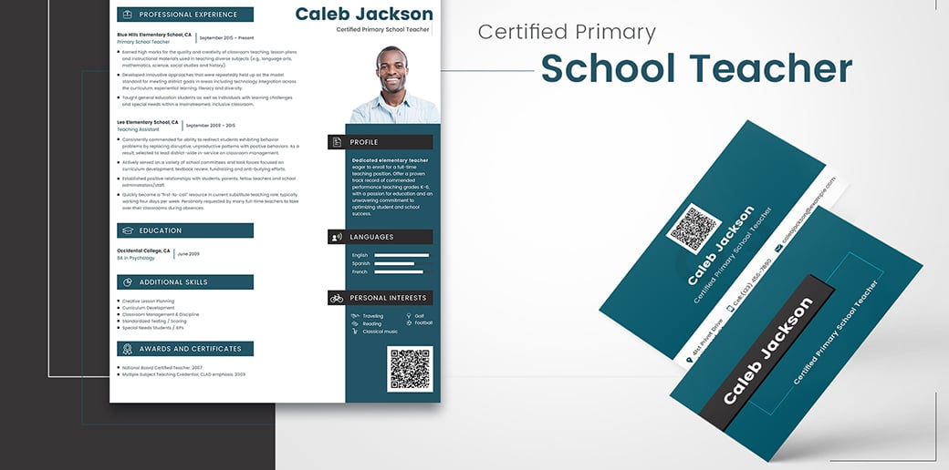 teacher free business card psd