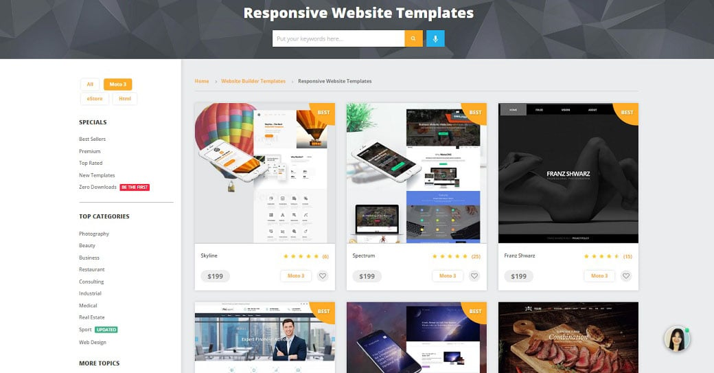 MotoCMS Website Templates