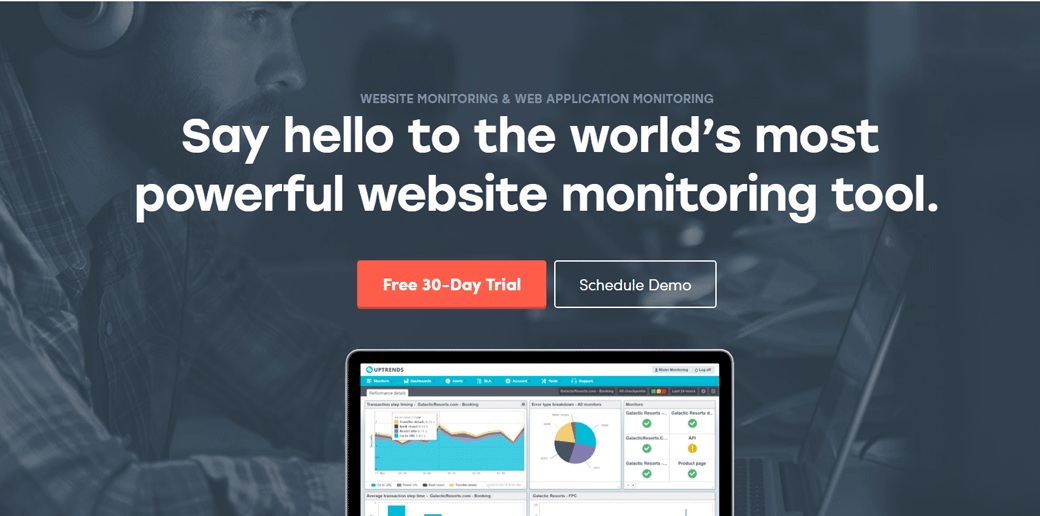 Uptrends website uptime monitoring