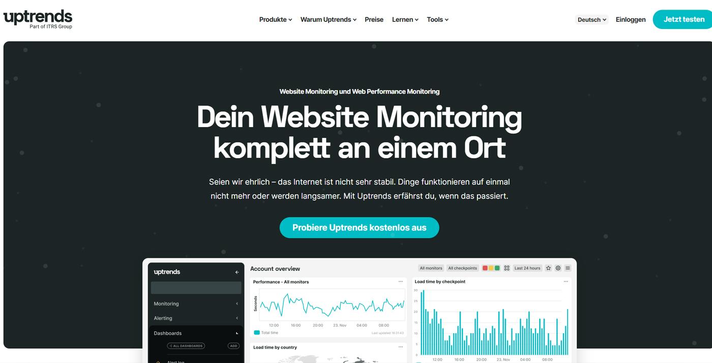 website uptime monitoring uptrends