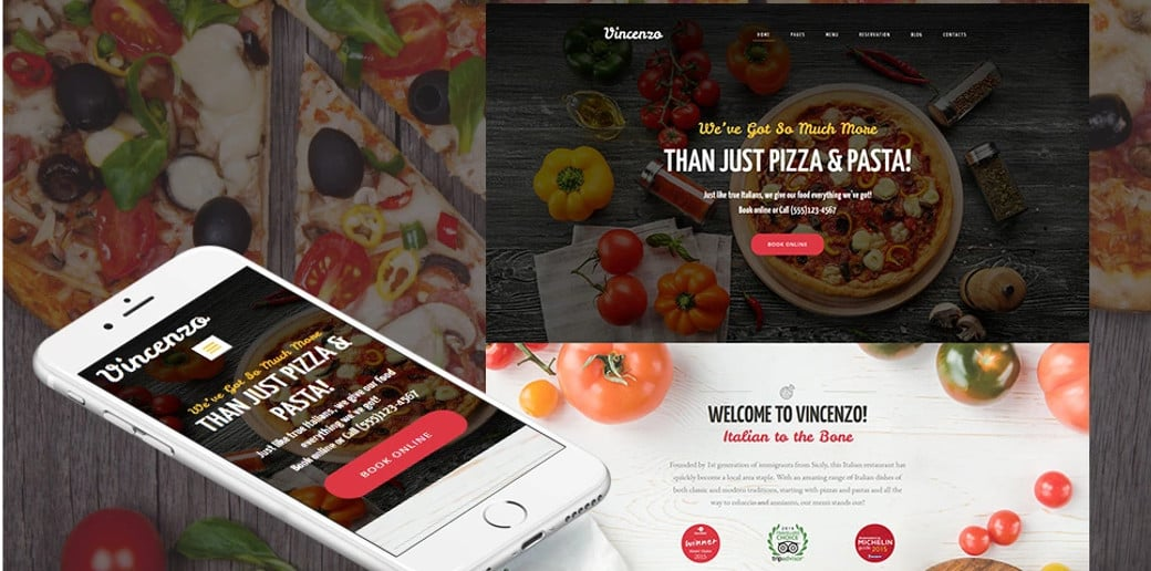 Delicious Pizza Restaurant Website Template