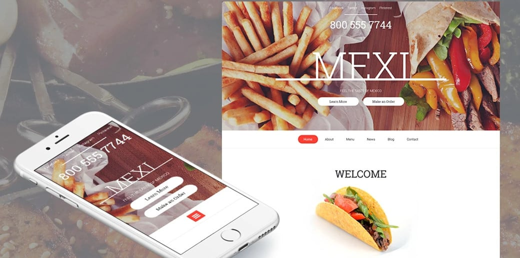 Mexi Responsive Website Template