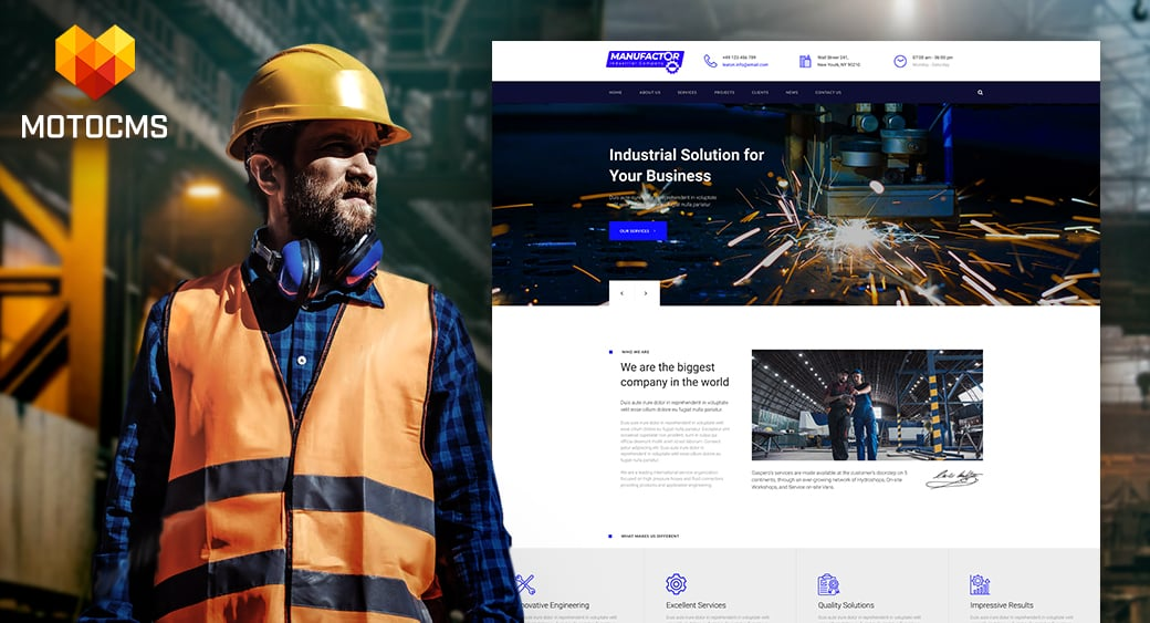 Manufacturing Website Design main image
