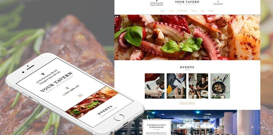 Your Tavern Responsive Website Template