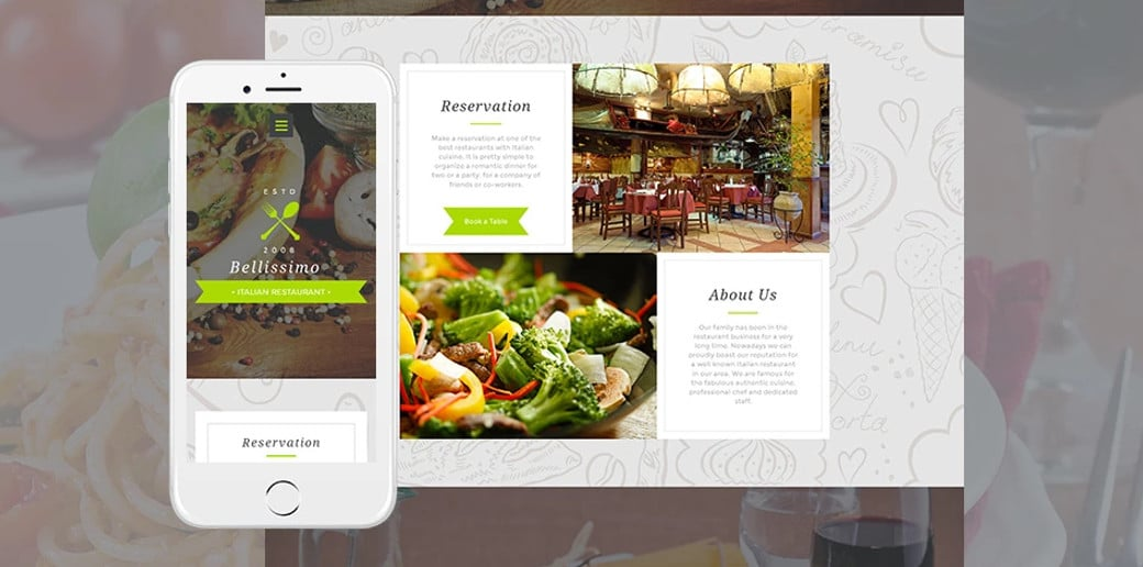 Bellissimo Responsive Website Template