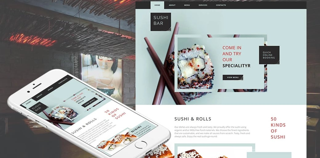 Sushi Bar HTML Website Template
