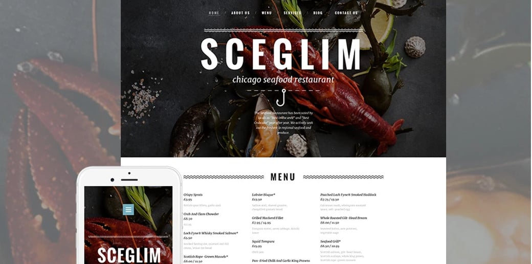 Restaurant Website Design with Blog