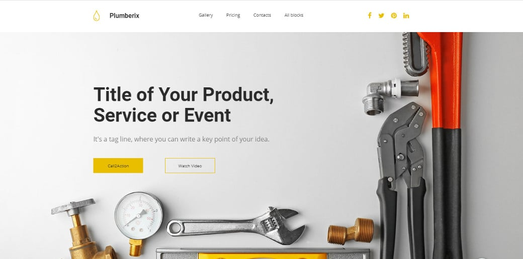 plumberix drag and drop landing page