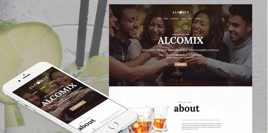 Alcomix HTML Website Template
