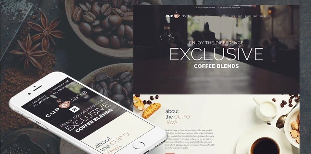 Cup o Java Responsive Website Template