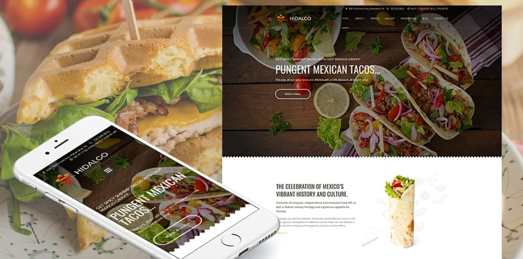 Hidalgo Responsive Website Template