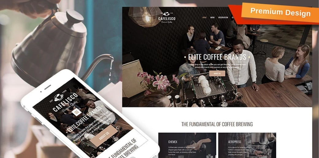 Cafelisco restaurant website builder