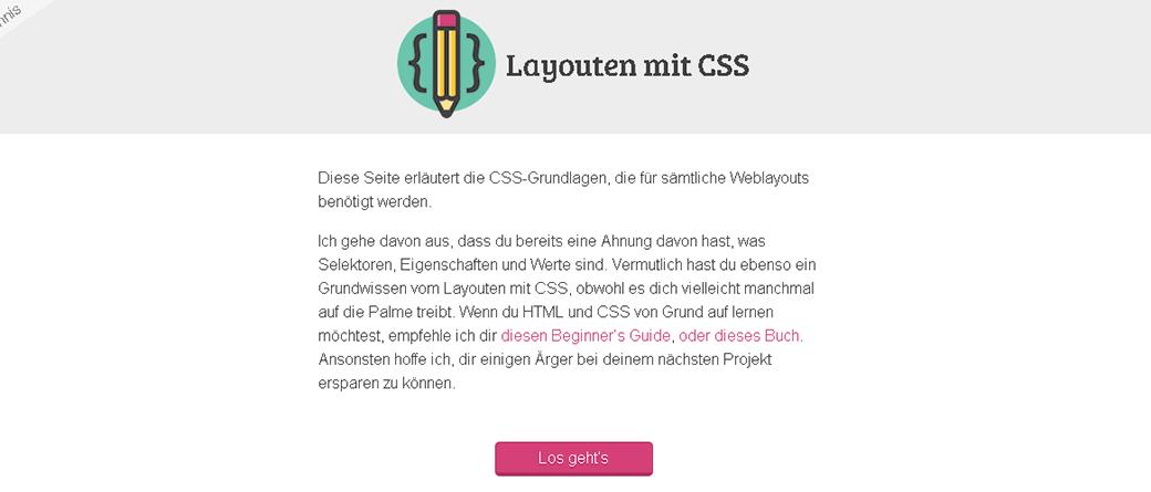 Webdesigner werden Layouten mit CSS image
