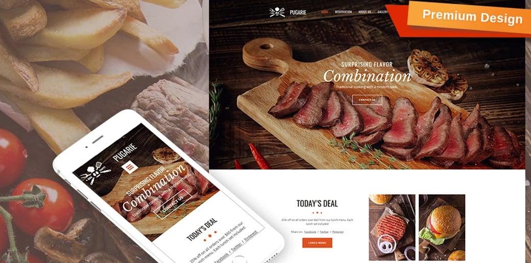 BBQ Restaurant Premium Moto CMS 3 Template