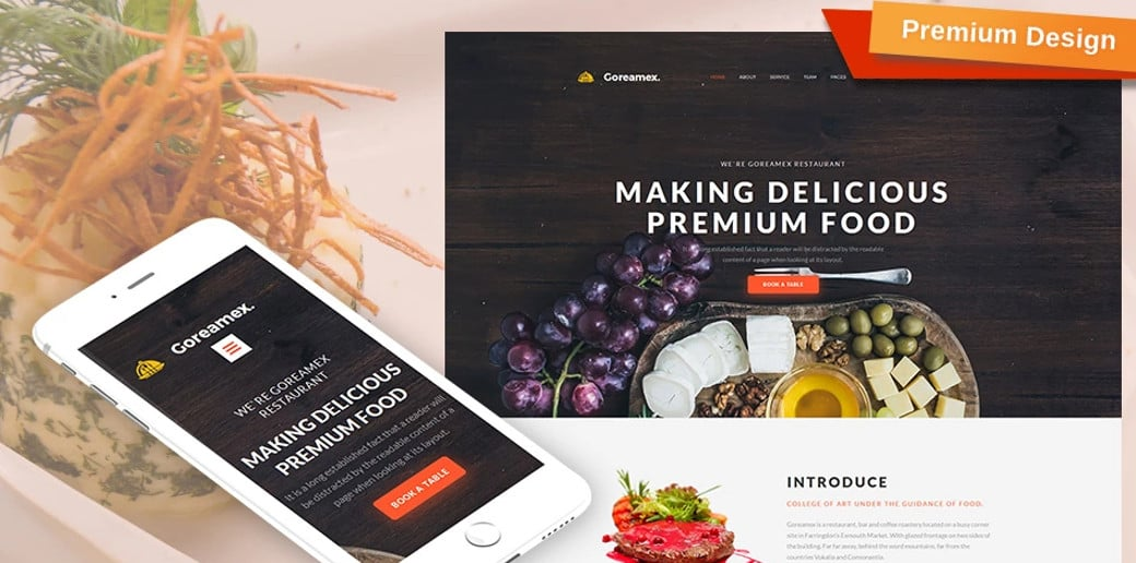European Restaurant Premium Website Design