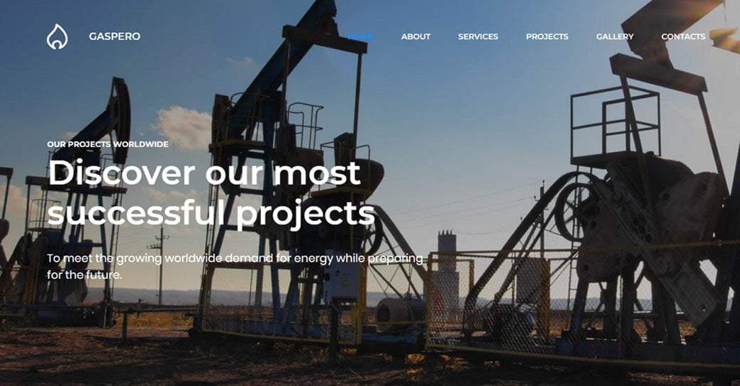 Gaspero Manufacturing Website Design