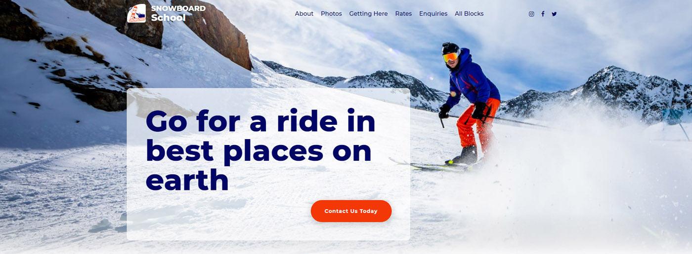 MotoCMS Snowboard School Template