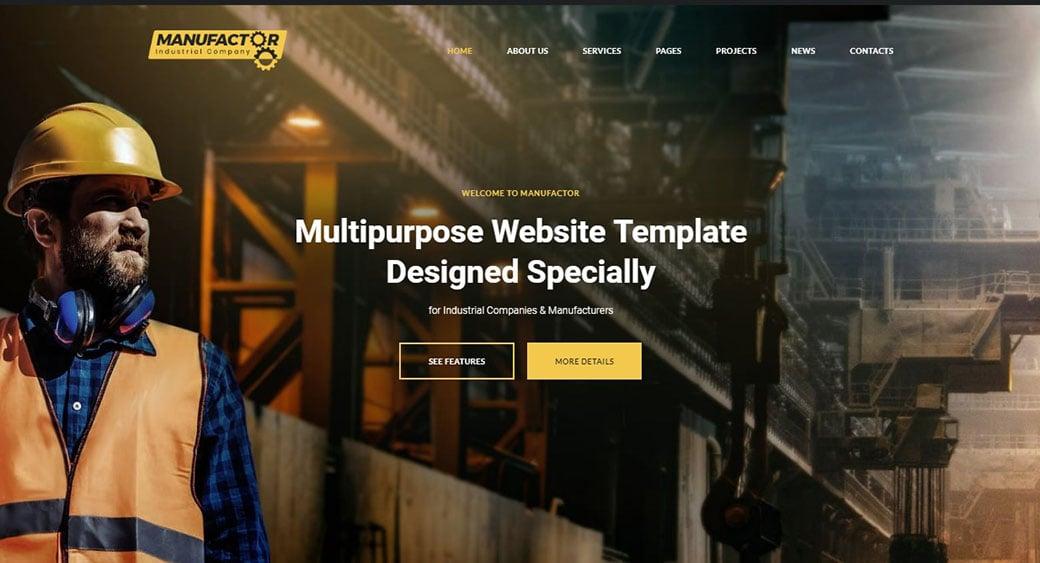 дизайн промышленного сайта мануфактор